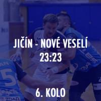HBC Ronal Jičín - TJ Sokol Nové Veselí 23:23 (17:10)
